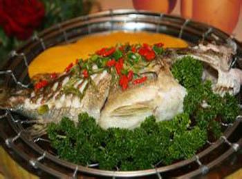 烤花揽鳜鱼