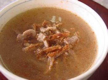 辣味榨菜肉丝汤