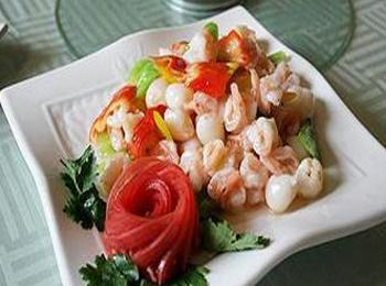 菠萝荔枝炒蟹