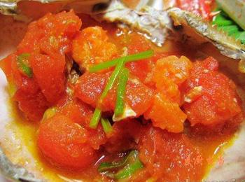 西红柿炖活蟹