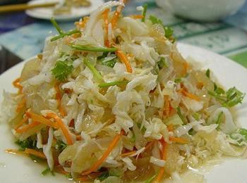 白菜心拌海蜇皮