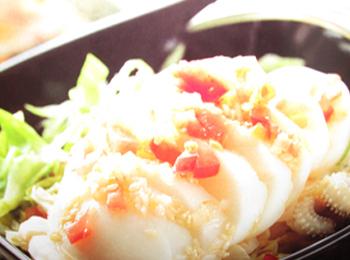 圆白菜墨鱼卷