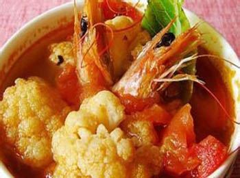 金钩菜花汤