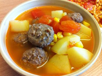 土豆肉丸子汤