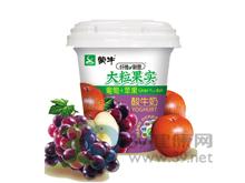 雀巢 蒙牛纤维新意大粒葡萄苹果果实酸牛奶